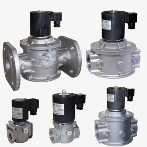 شیر برقی ضربهای گاز MADAS – فشار پایین – DN15 تا DN50