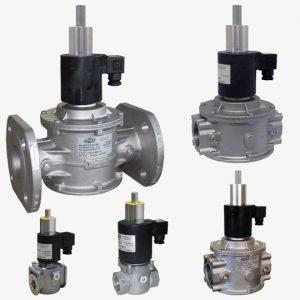 شیر برقی تدریجی گاز MADAS – فشار پایین – DN15 تا DN50