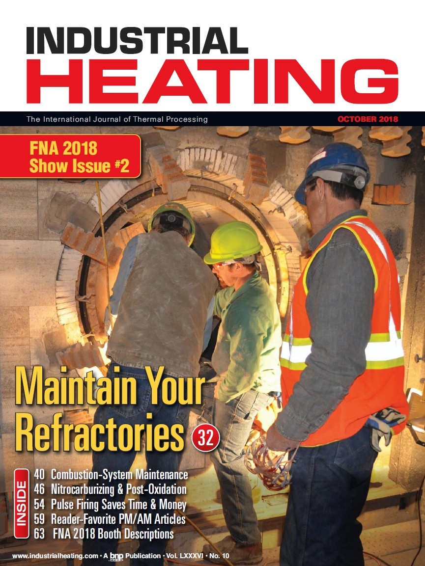 Industrial Heating Magazine - OCTOBER 2018