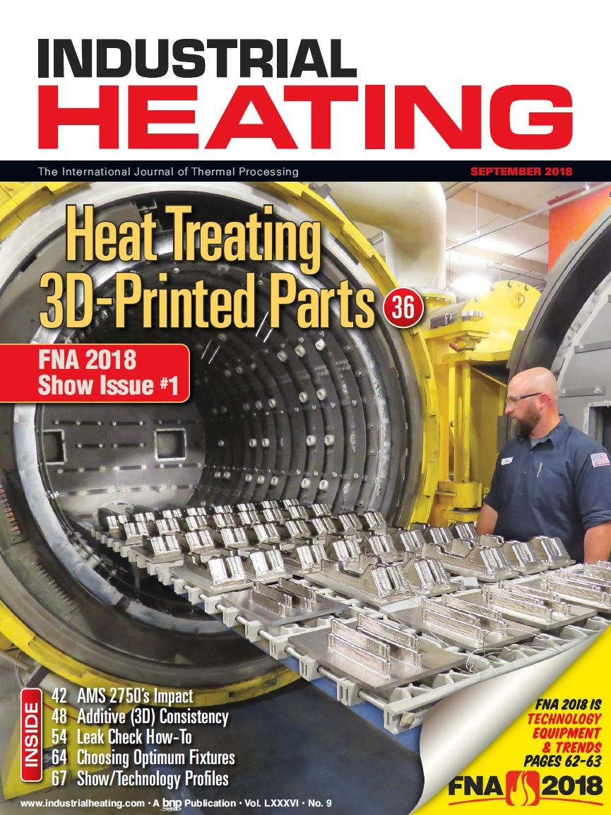 Industrial Heating Magazine - SEPTEMBER 2018
